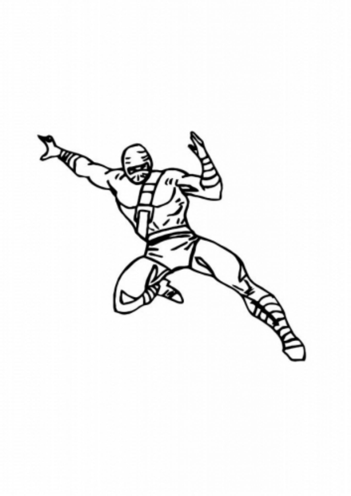 Print & Download The Attractive Ninja Coloring Pages for Kids