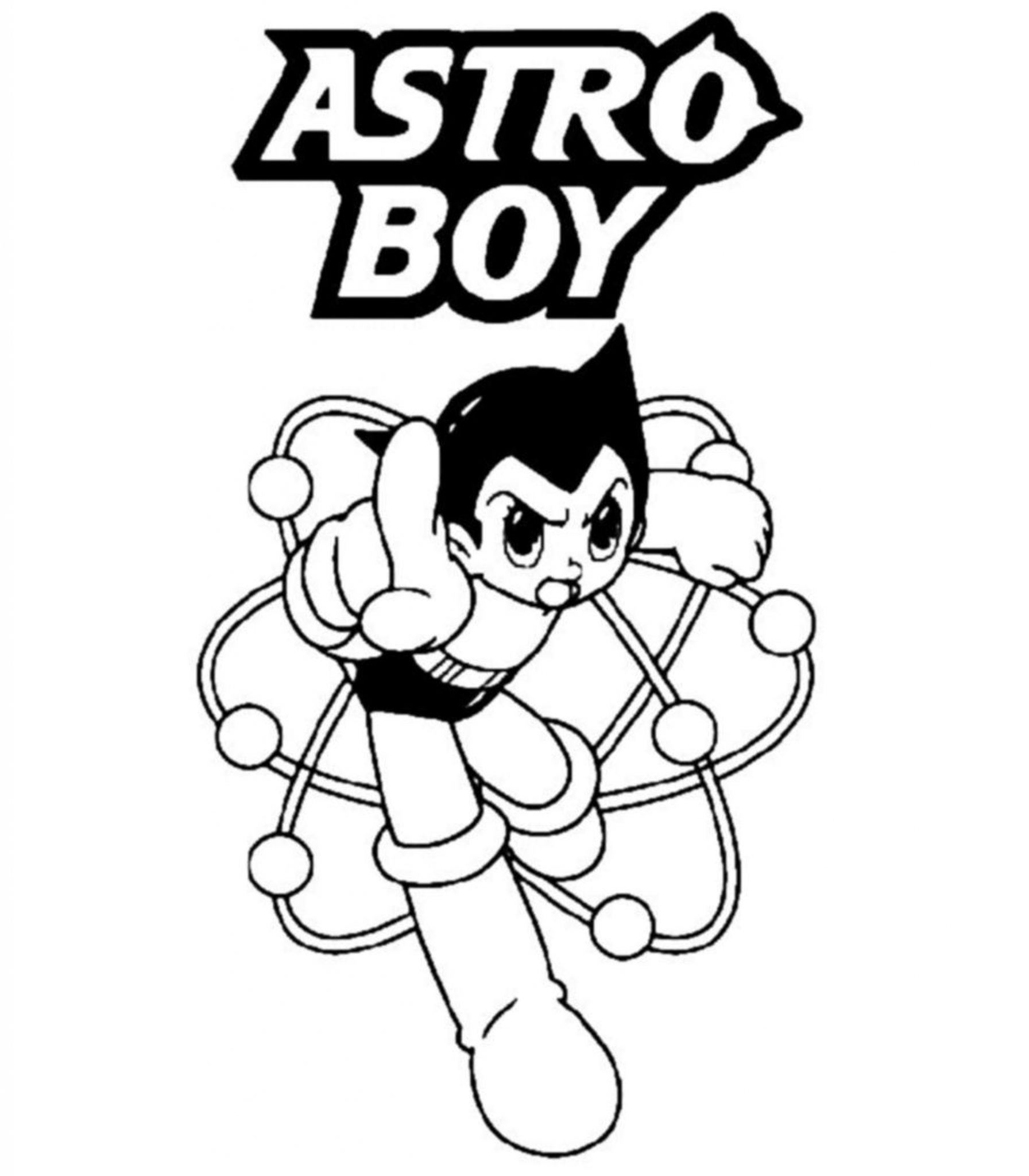 free coloring pages for boys astro boy