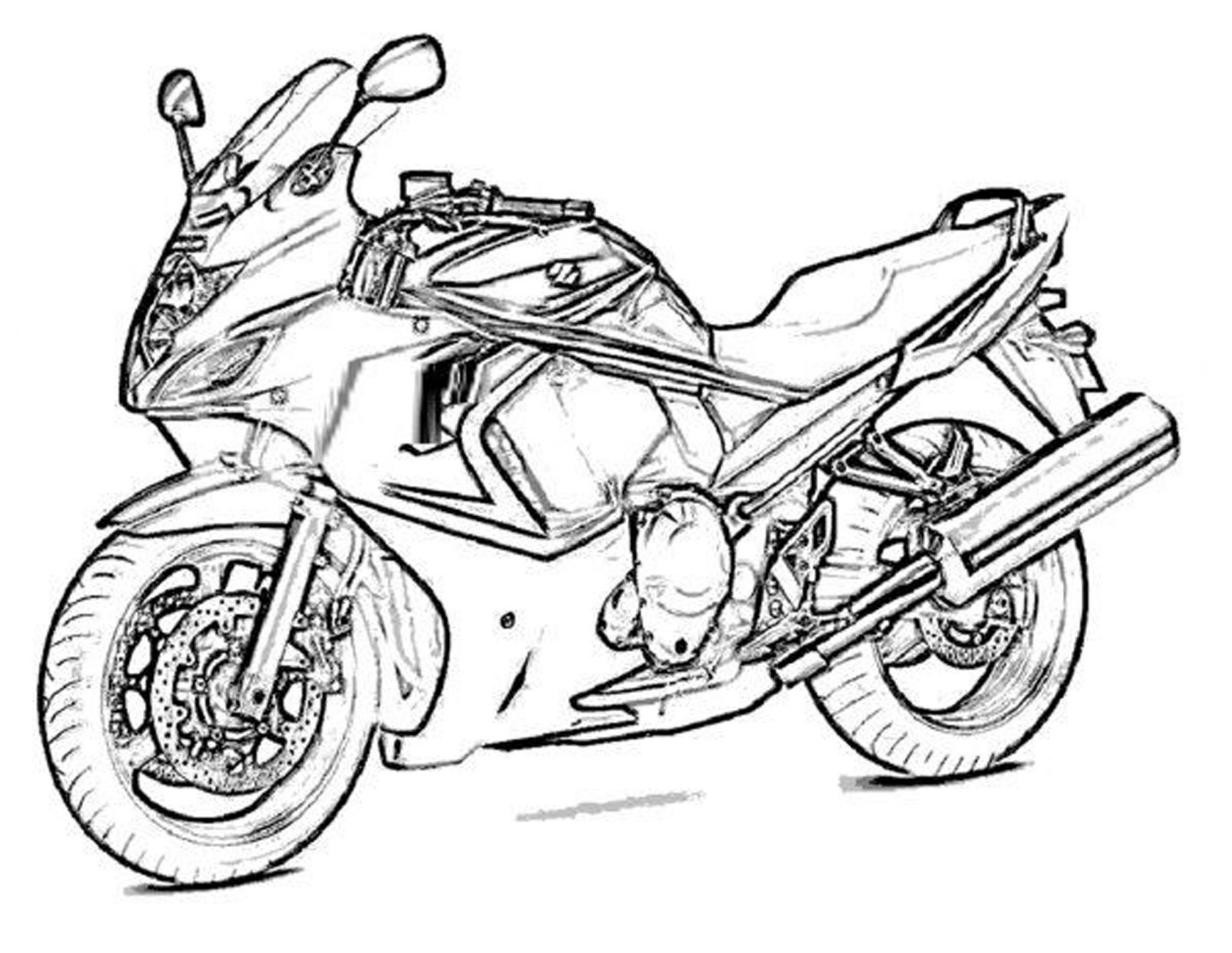 free coloring pages for boys motorcycle     BestAppsForKids.com