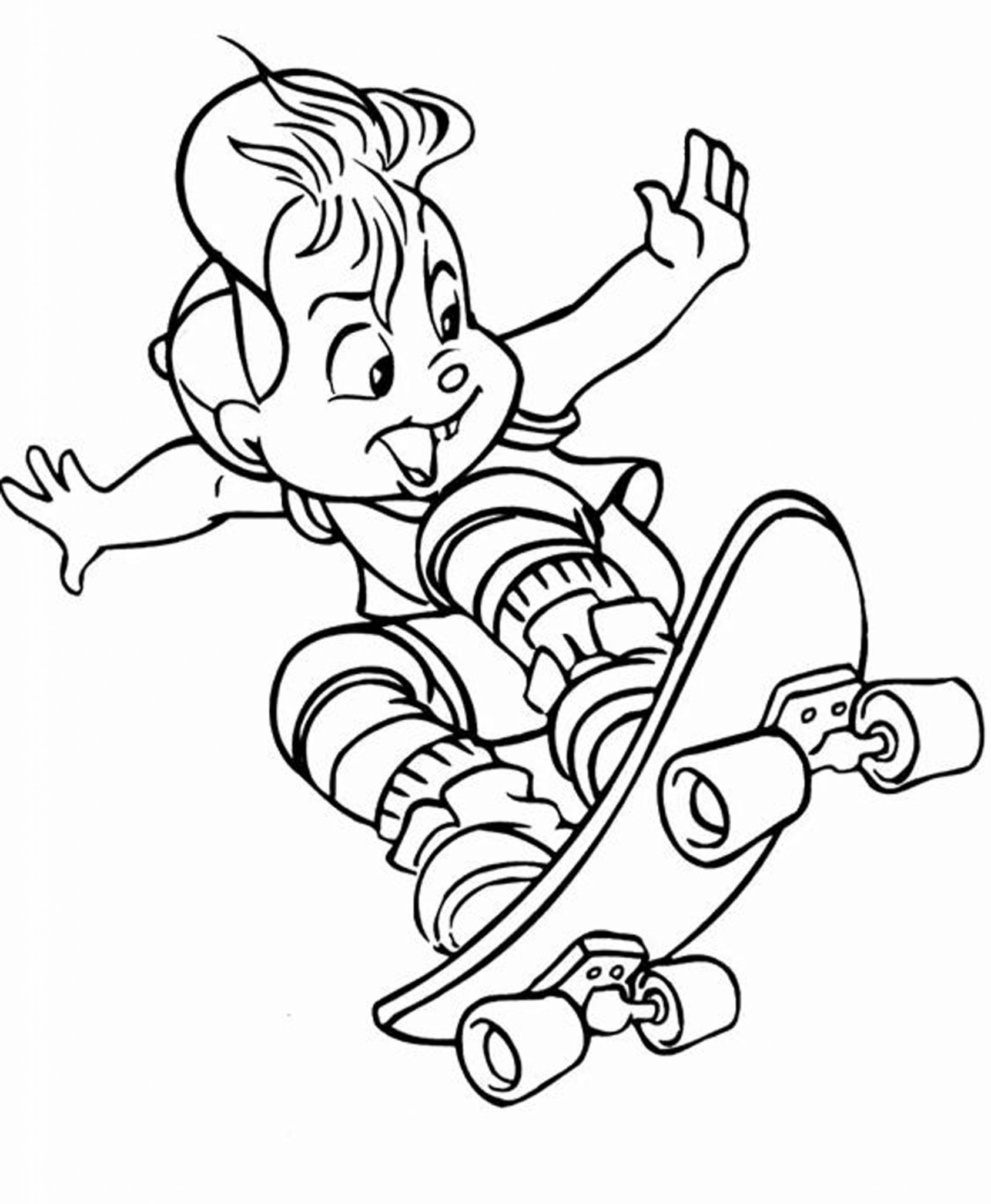 Free Coloring Pages | Skateboard Coloring Pages | 2048x1686