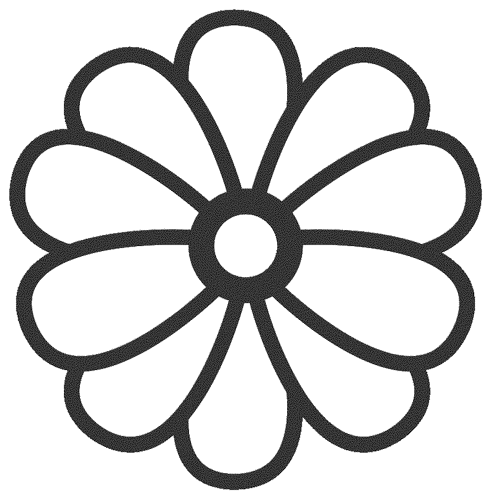 Print download some common variations of the flower for Coloring pages of a flower