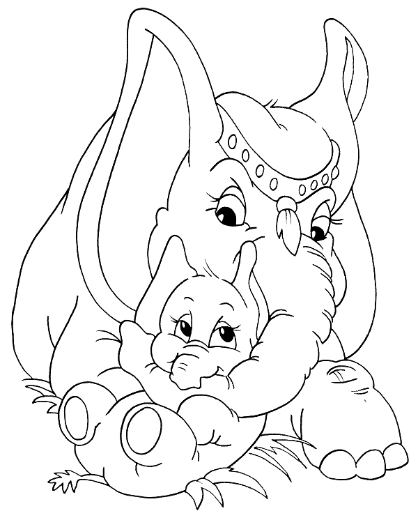 shop related products - Free Elephant Coloring Pages