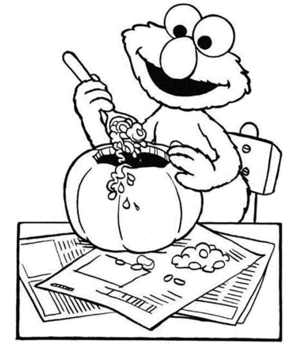 Print  Download  Elmo Coloring Pages for Childrens Home Activity