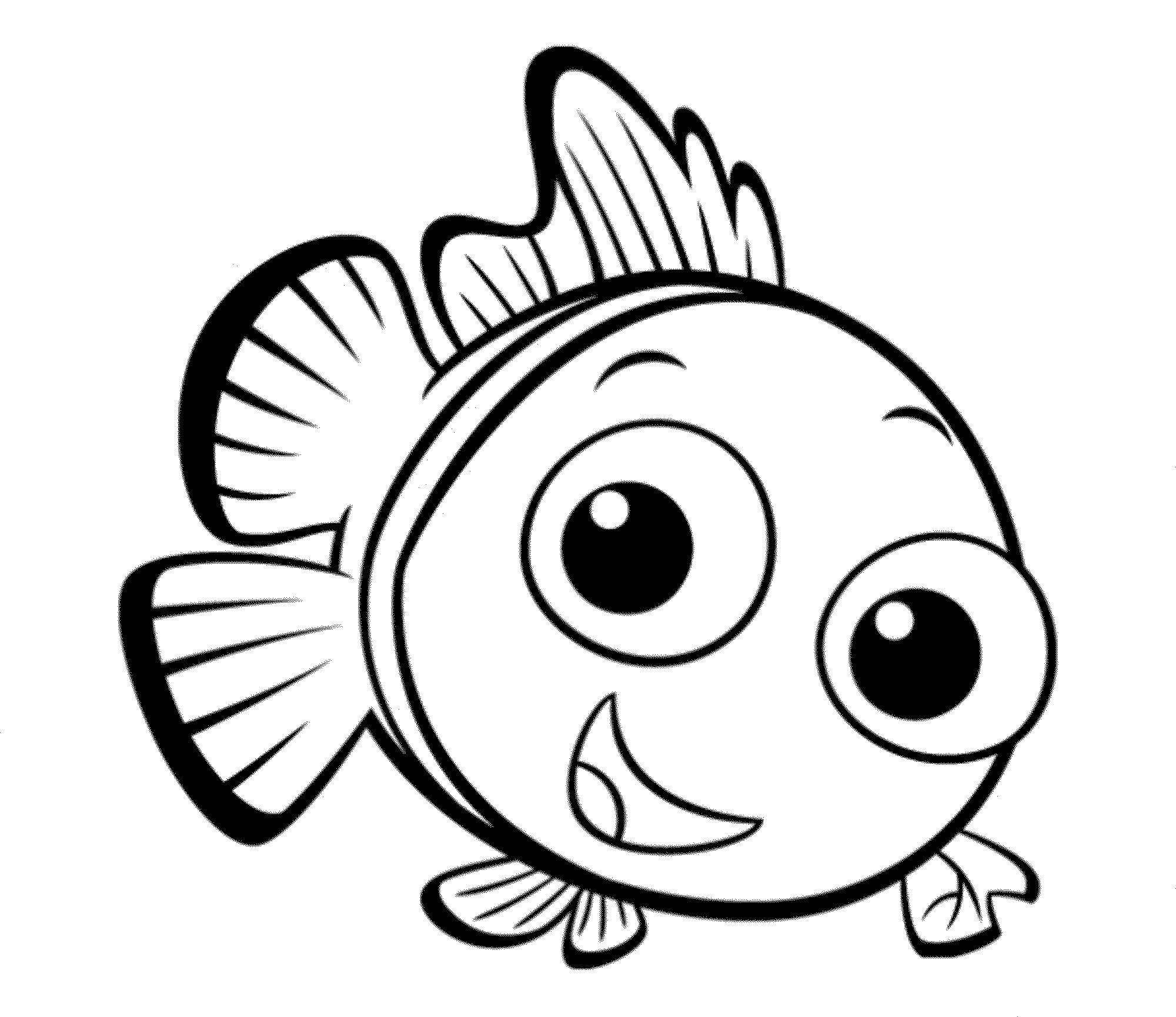 Print download cute and educative fish coloring pages for Free coloring fish pages