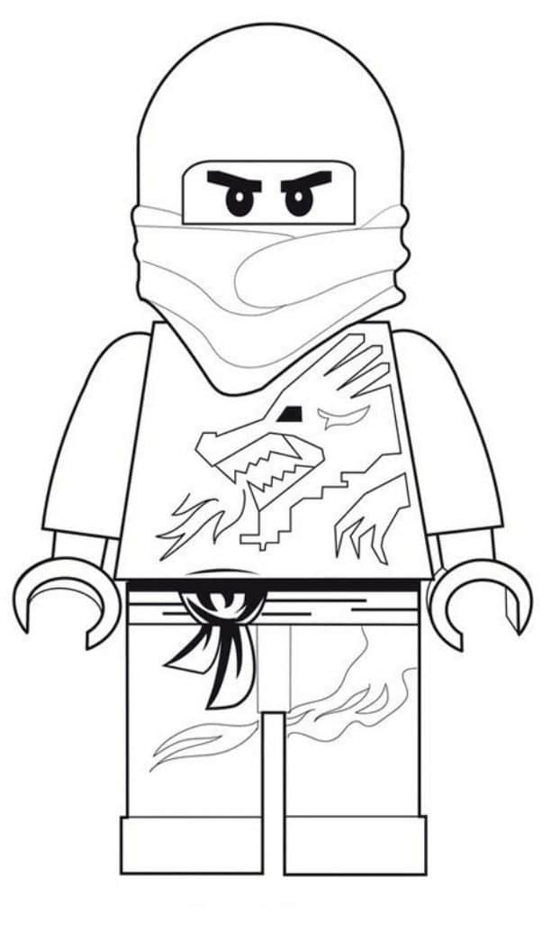 Print download the attractive ninja coloring pages for for Ninja lego coloring pages