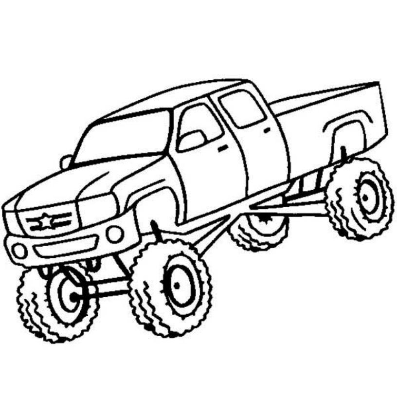 free-monster-truck-coloring-pages-to-print | | BestAppsForKids.com