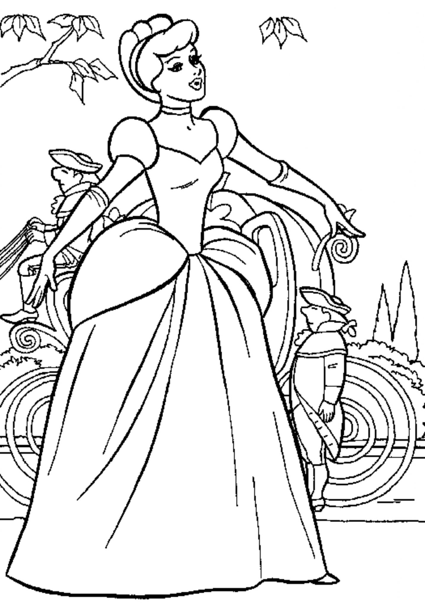 Print download princess coloring pages support the for Princess coloring page