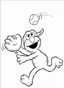 print  download  elmo coloring pages for children's home