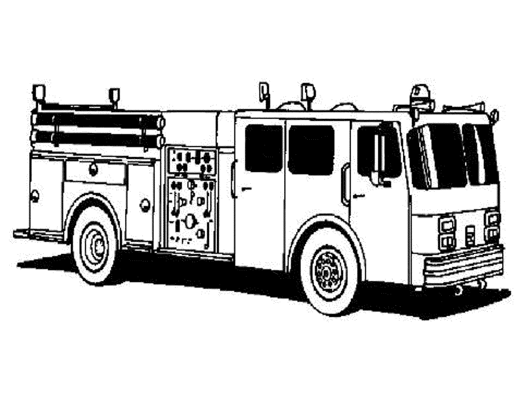 This is an image of Gargantuan Fire Truck Printable