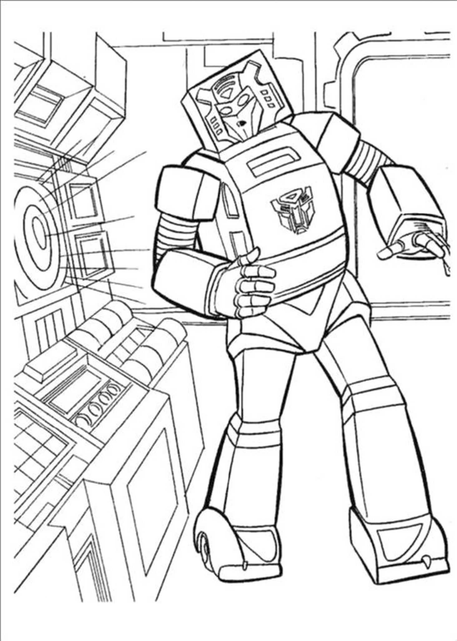 Transformer Coloring Pages Bumblebee Transformers
