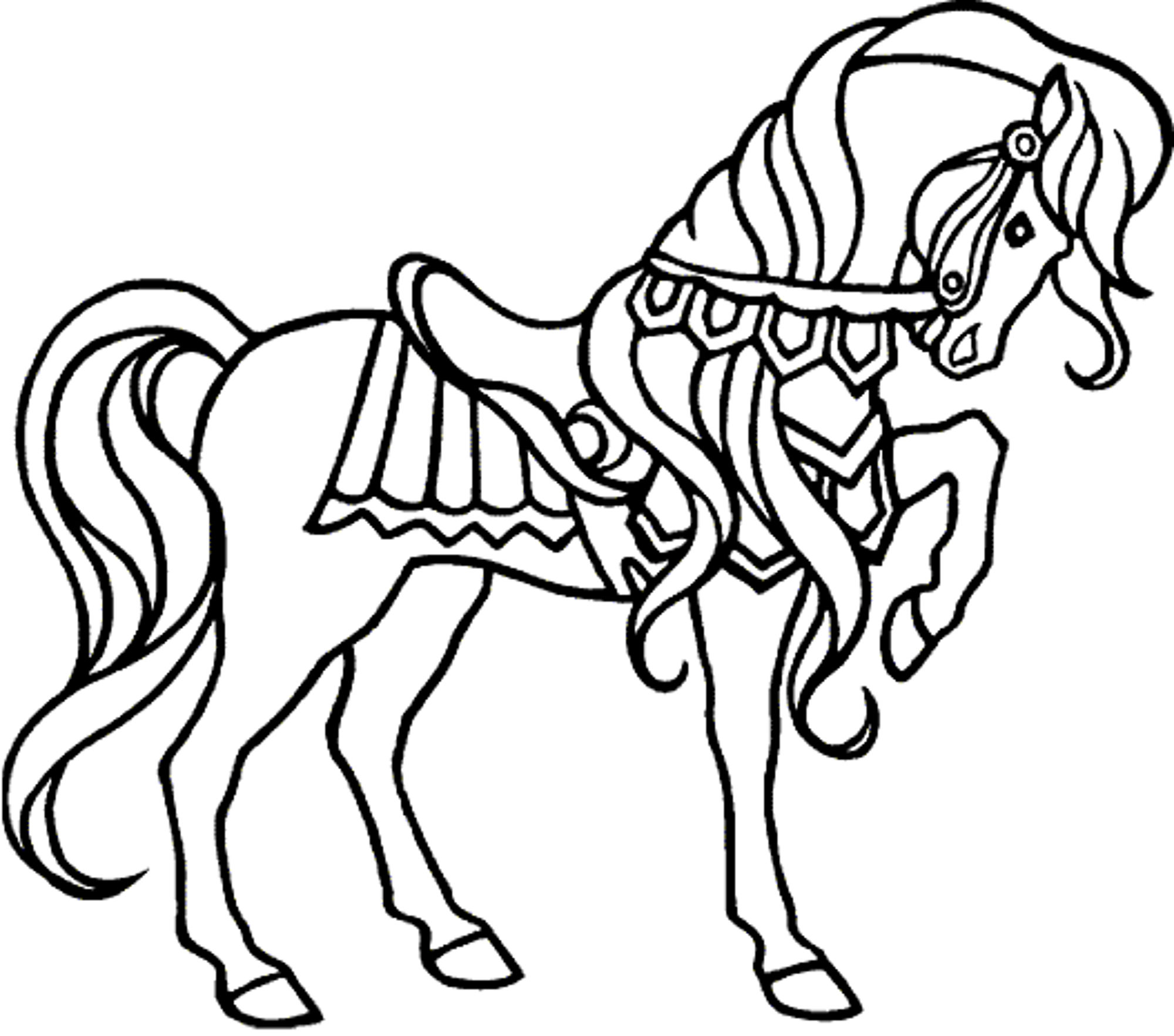 horse coloring pages for girls - Fun Coloring Pages
