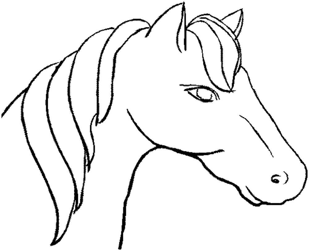 coloring pages horse head - photo#29