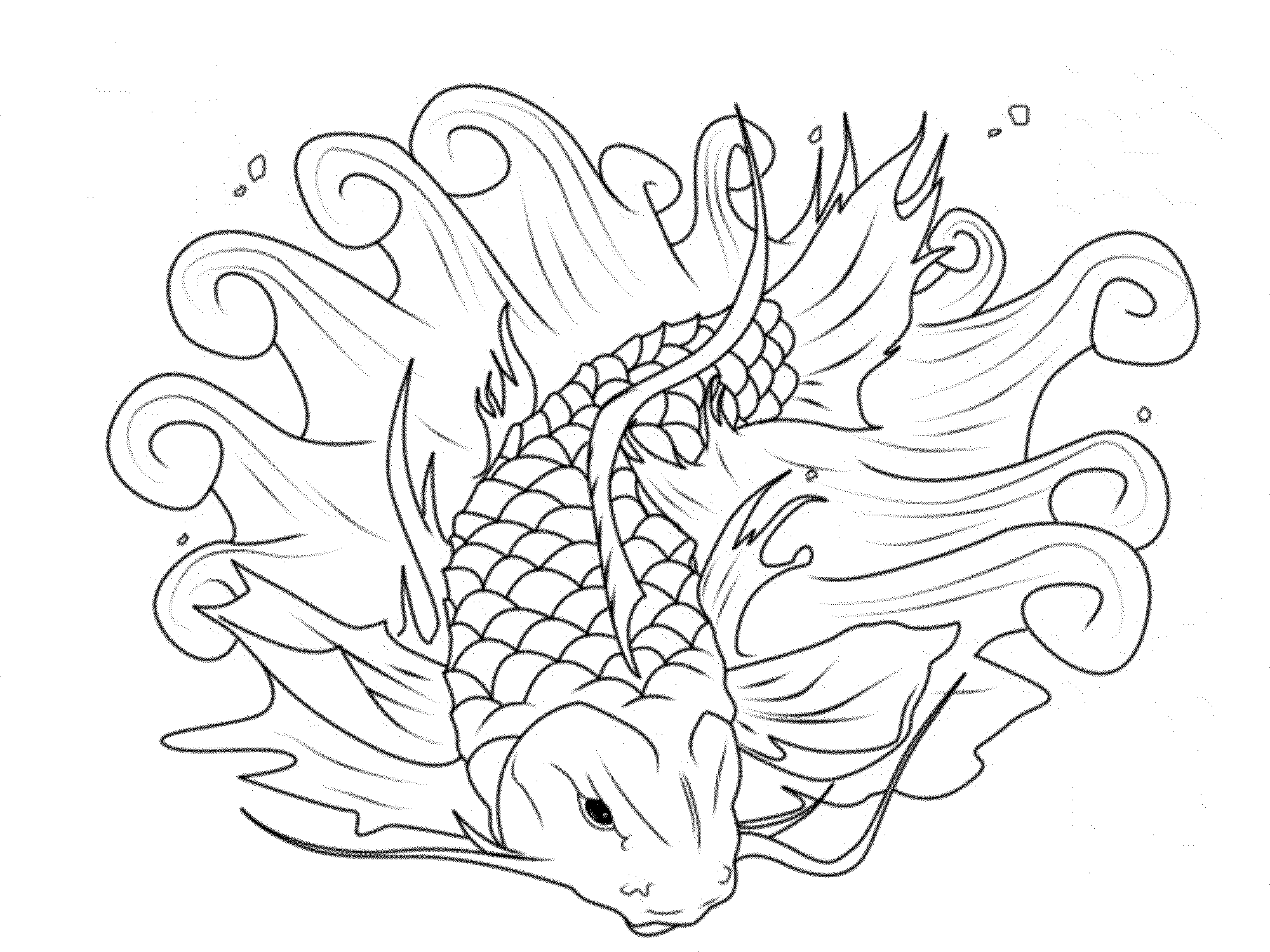 Uncategorized Realistic Fish Coloring Pages print download cute and educative fish coloring pages koi page