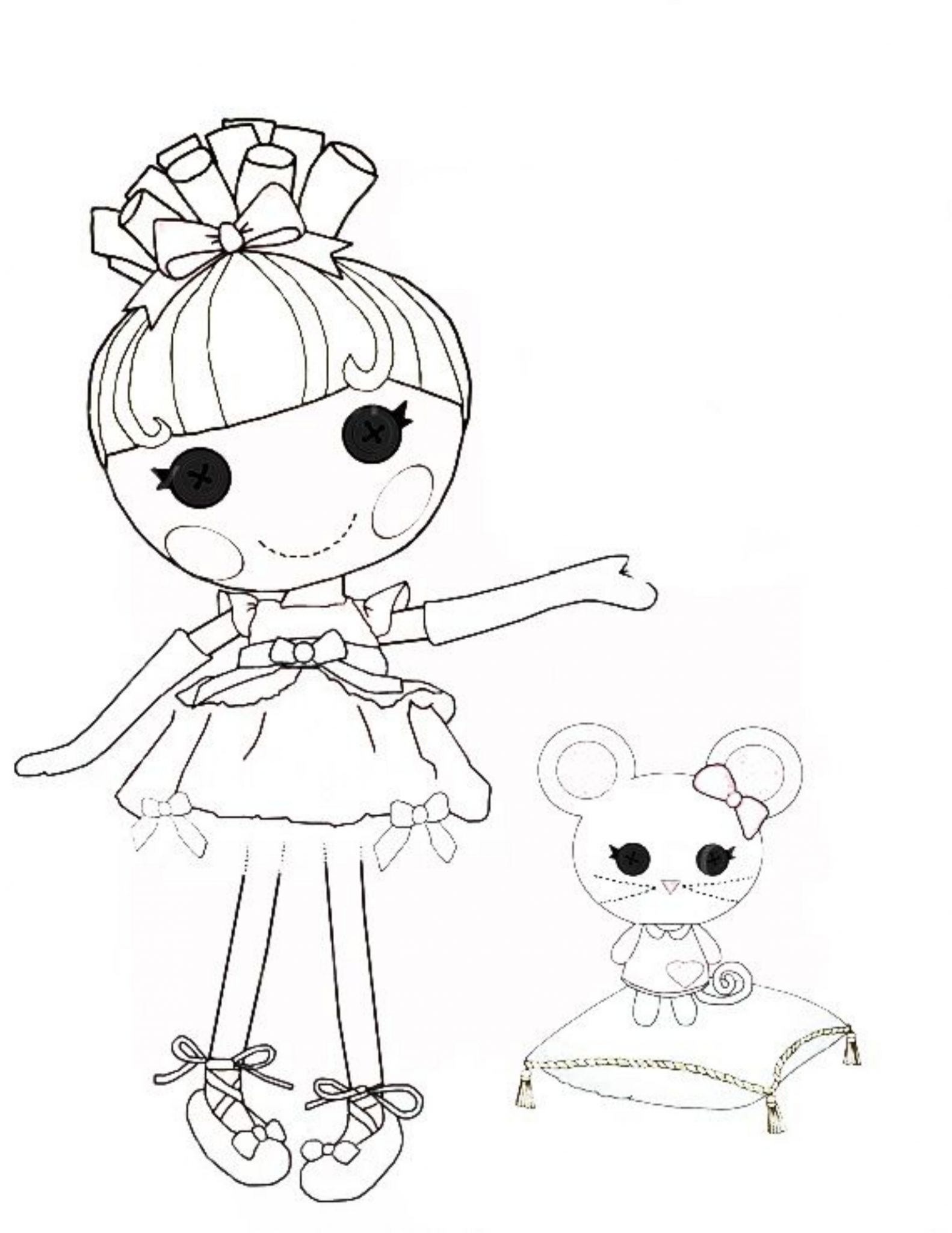 Top 20 Lalaloopsy Coloring Pages Your Toddler Will Love | Mermaid ... | 2048x1582