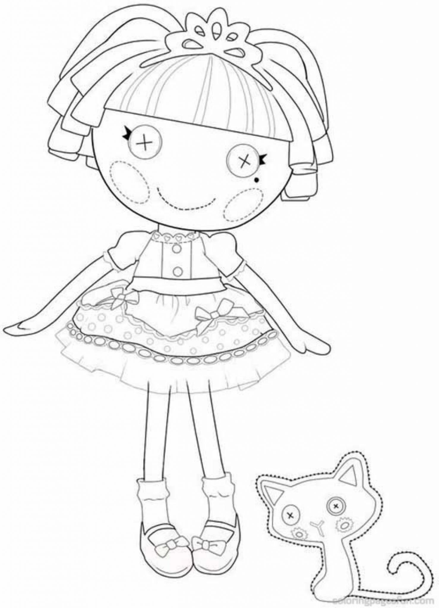 Giving Task for Kids to Have Lalaloopsy Coloring Pages