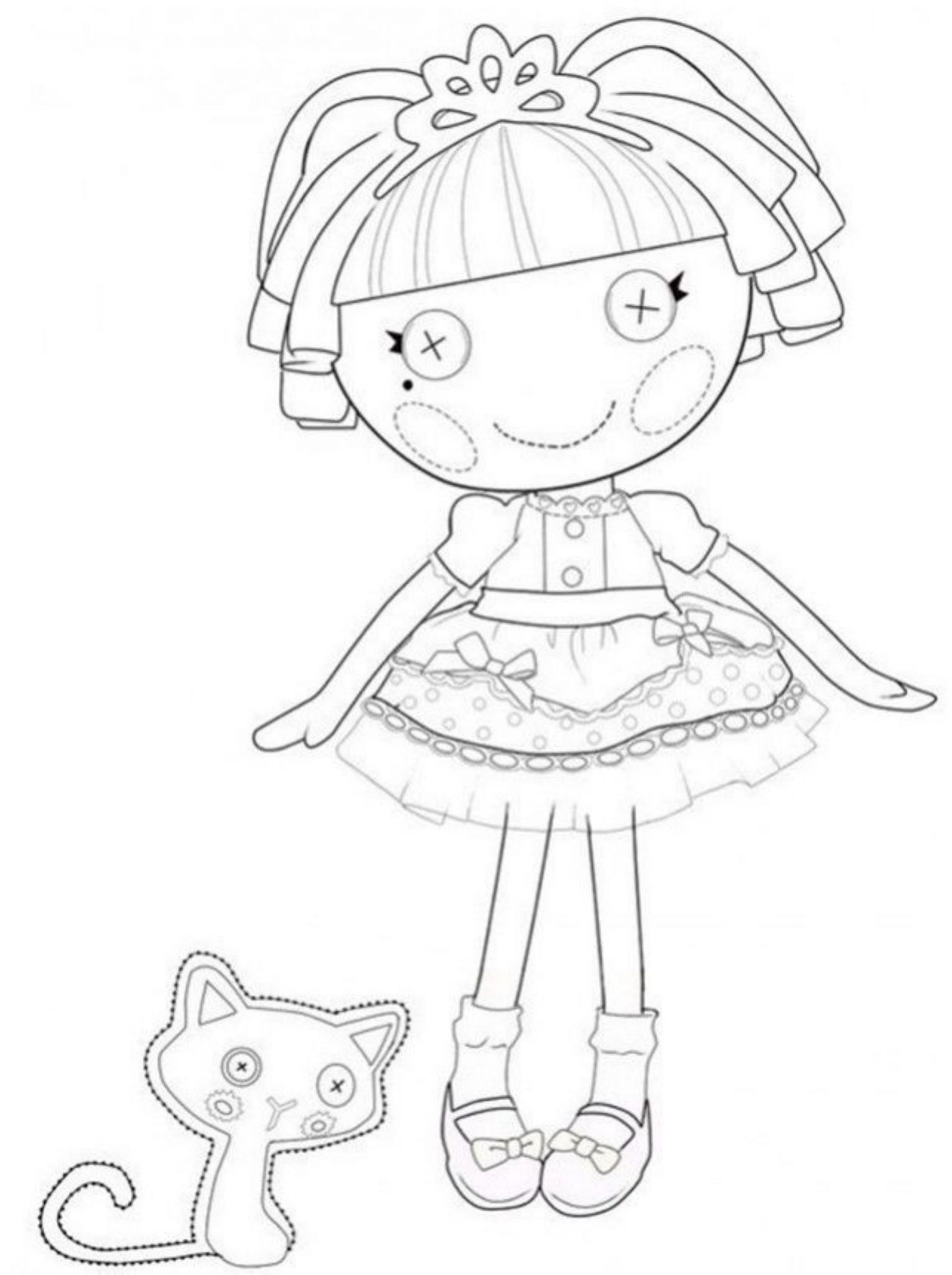 giving task for to lalaloopsy coloring pages