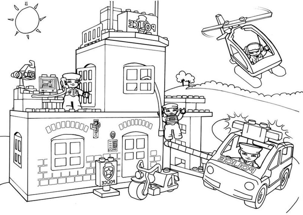 lego man coloring pages - Lego City Airplane Coloring Pages