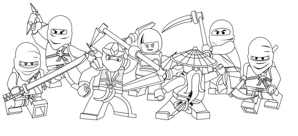 Lego ninjago coloring pages of the green ninja for Ninjago green ninja coloring pages