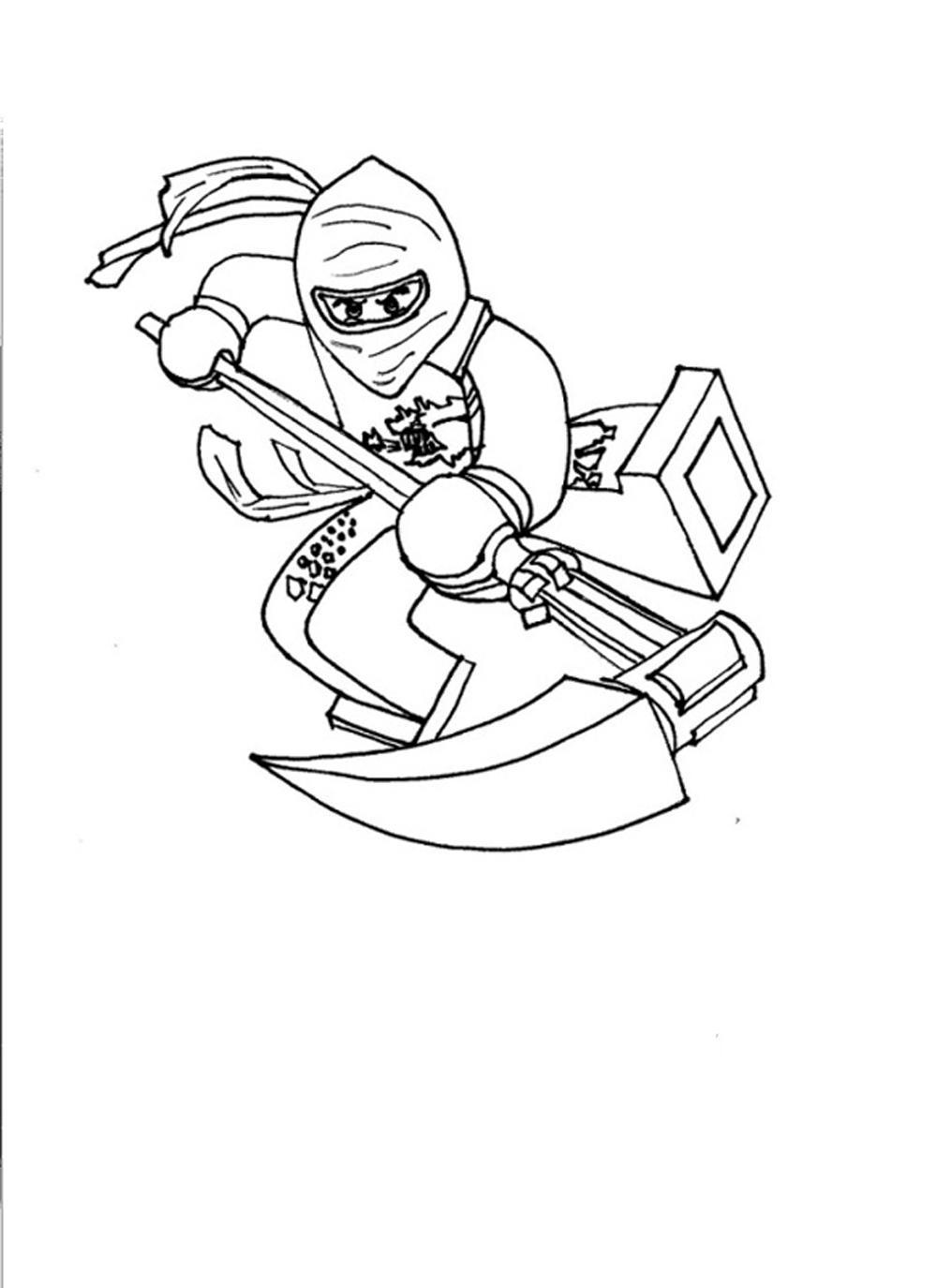 Lego ninjago colouring in pages for Ninja lego coloring pages