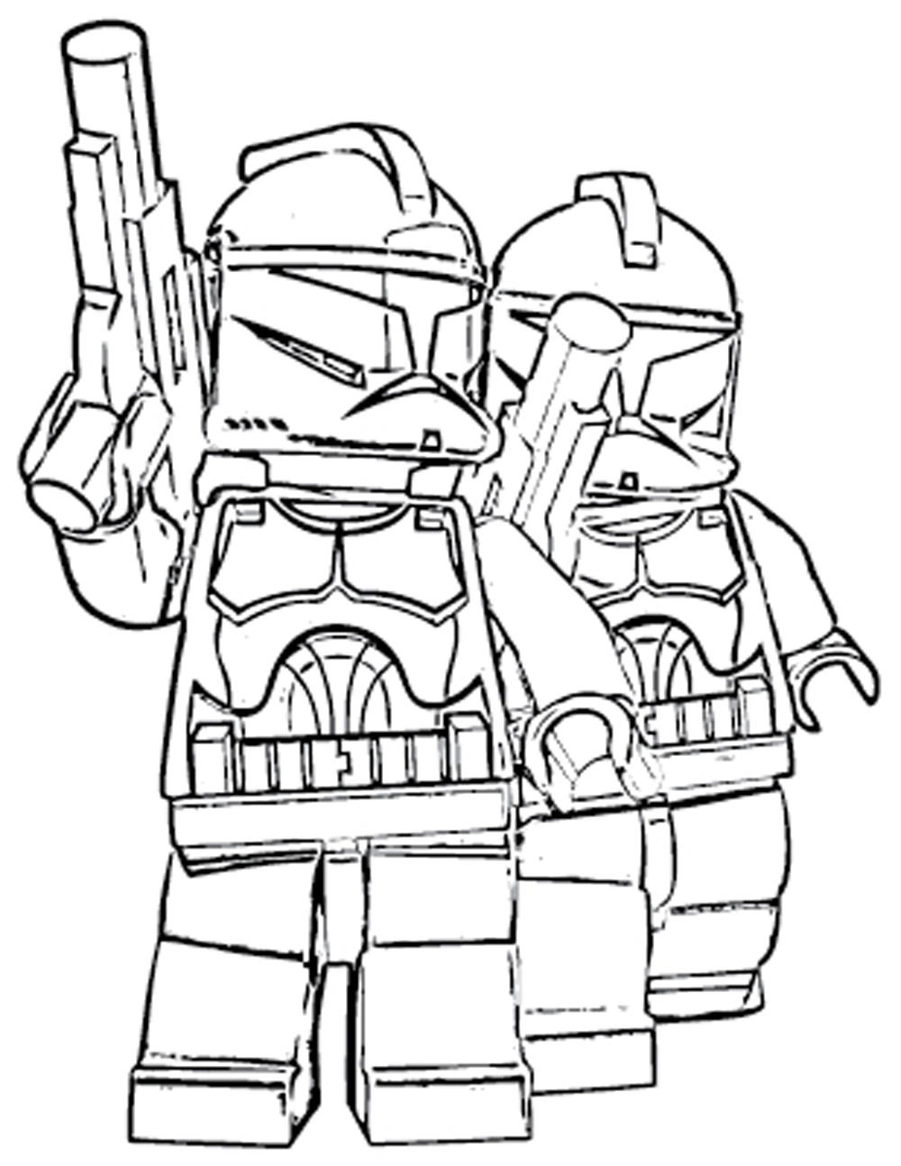 lego minifigures coloring pages - lego star wars minifigures coloring pages