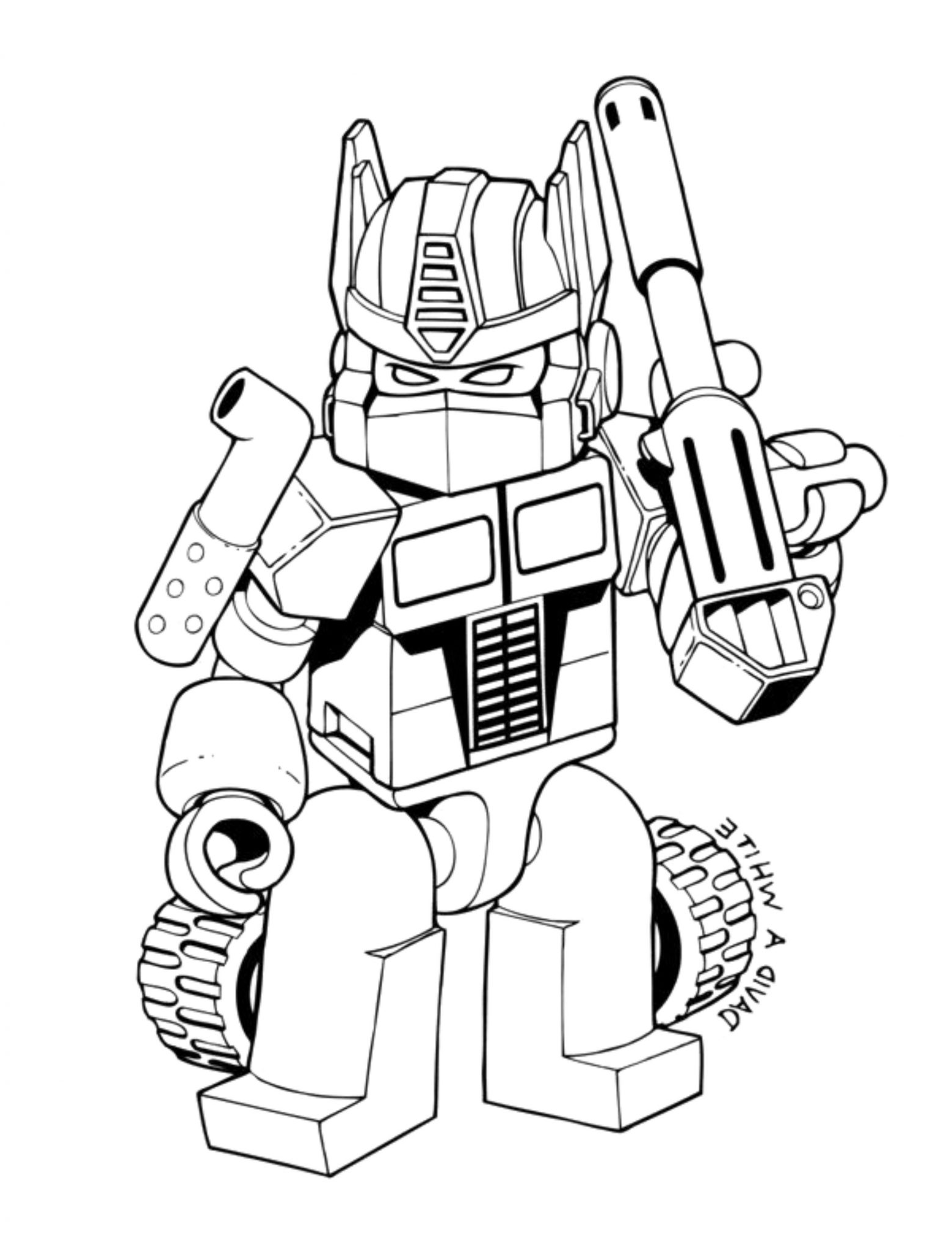 lego transformers coloring pages - Transformers Coloring Pages