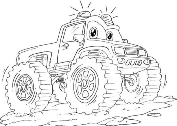 Lightning mcqueen monster truck coloring pages for Lightning mcqueen color pages