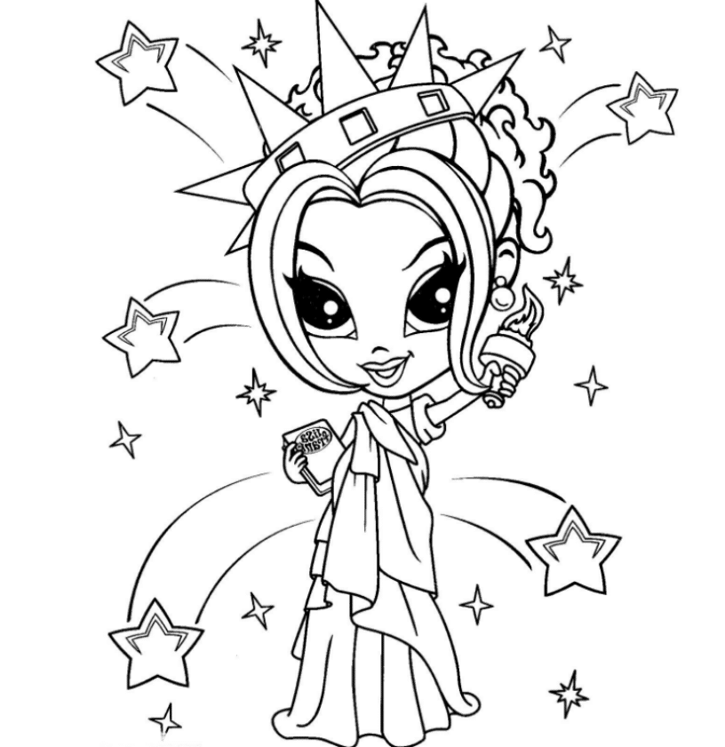 coloring pages of lisa - photo#8
