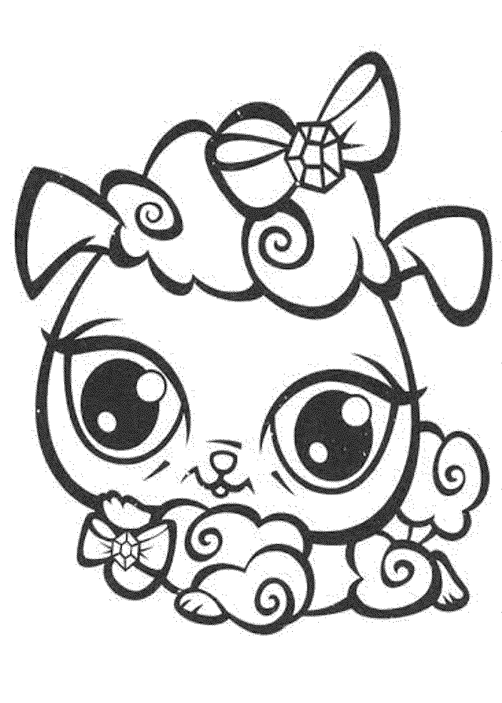 Littlest pet shop coloring pages cat for Lps popular coloring pages