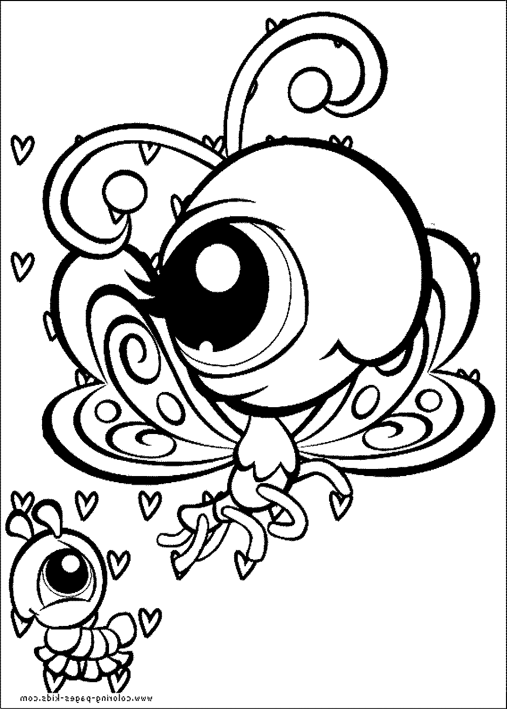 Littlest pet coloring book pages coloring pages for Littlest pet shop coloring pages dog