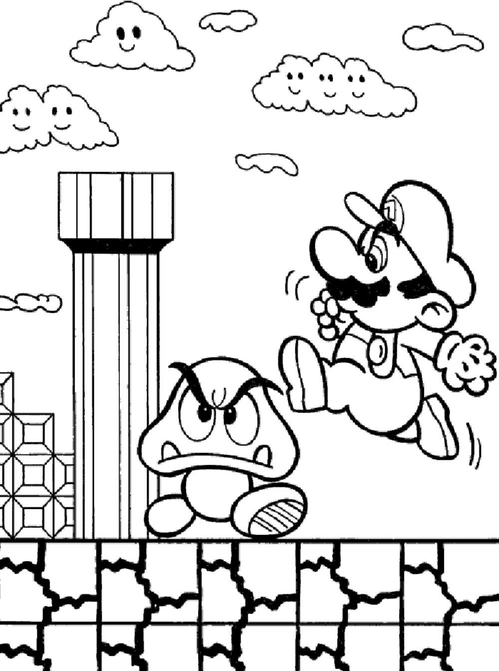 mario-bros-printable-coloring-pages | | BestAppsForKids.com