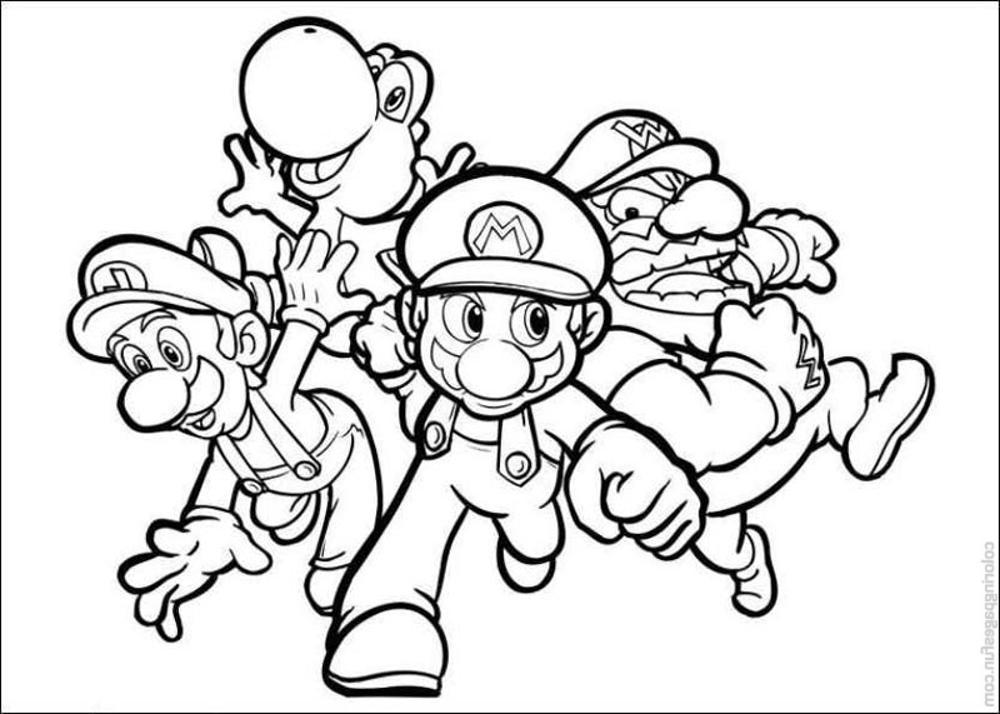 mario bros coloring pages - print download mario coloring pages themes