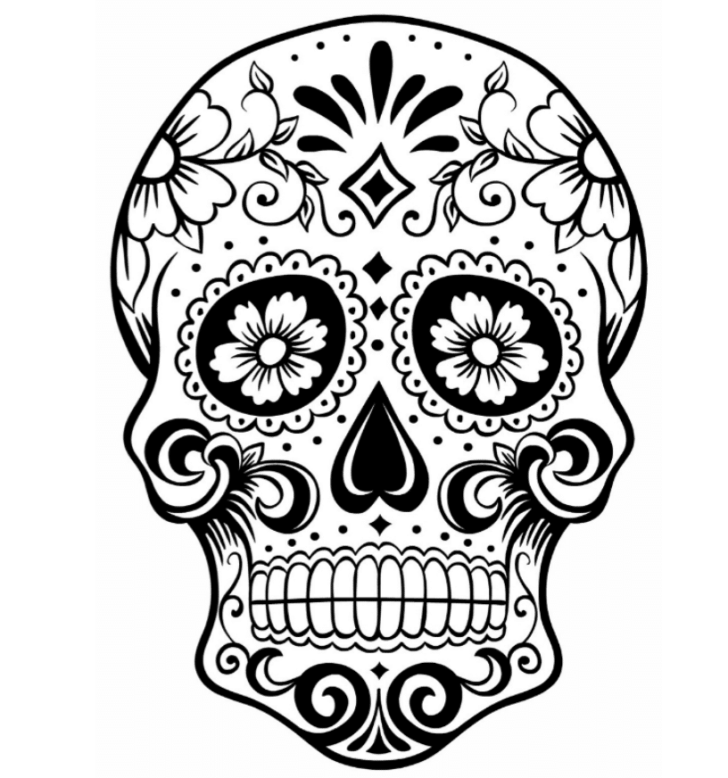 mexican sugar skull coloring pages - Sugar Skull Coloring Pages