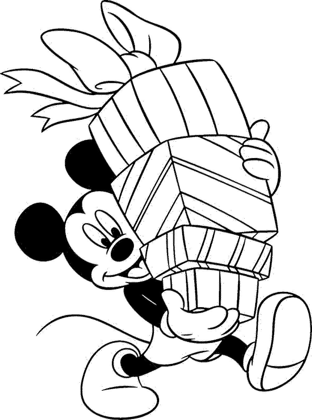 mickey mouse coloring pages christmas | Learning Through Mickey Mouse Coloring Pages