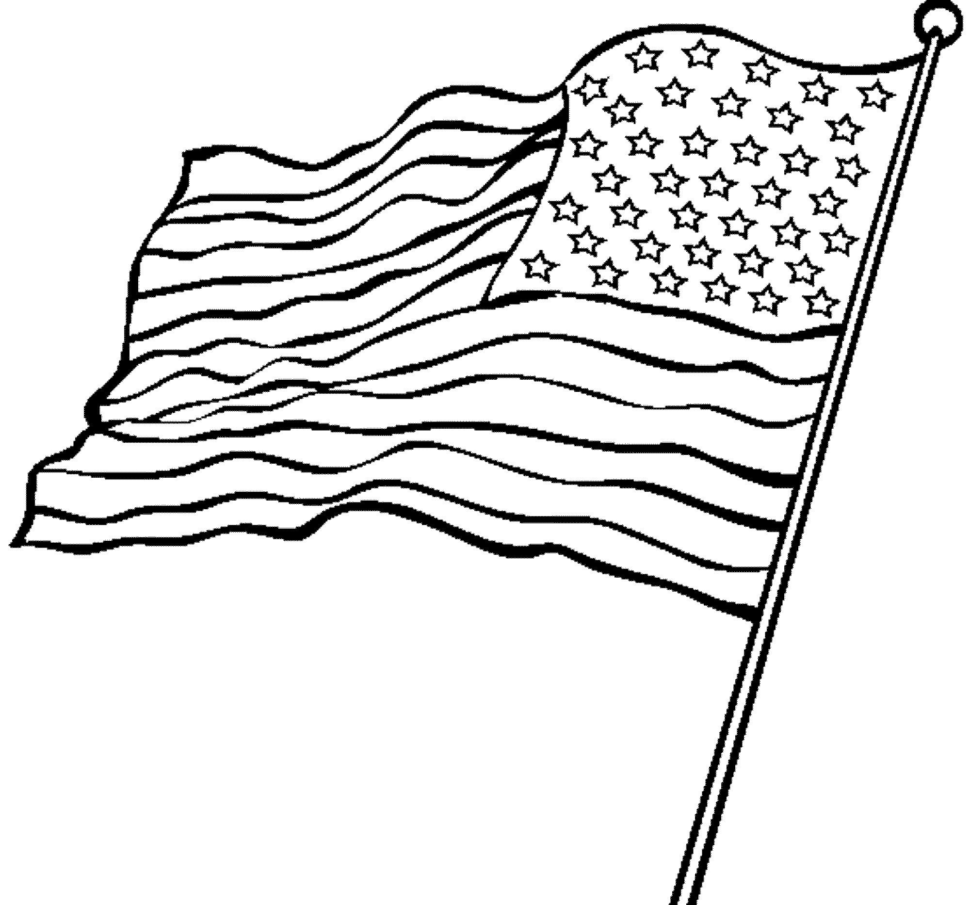 Flag american coloring pages ~ American Flag Coloring Page for the Love of the Country