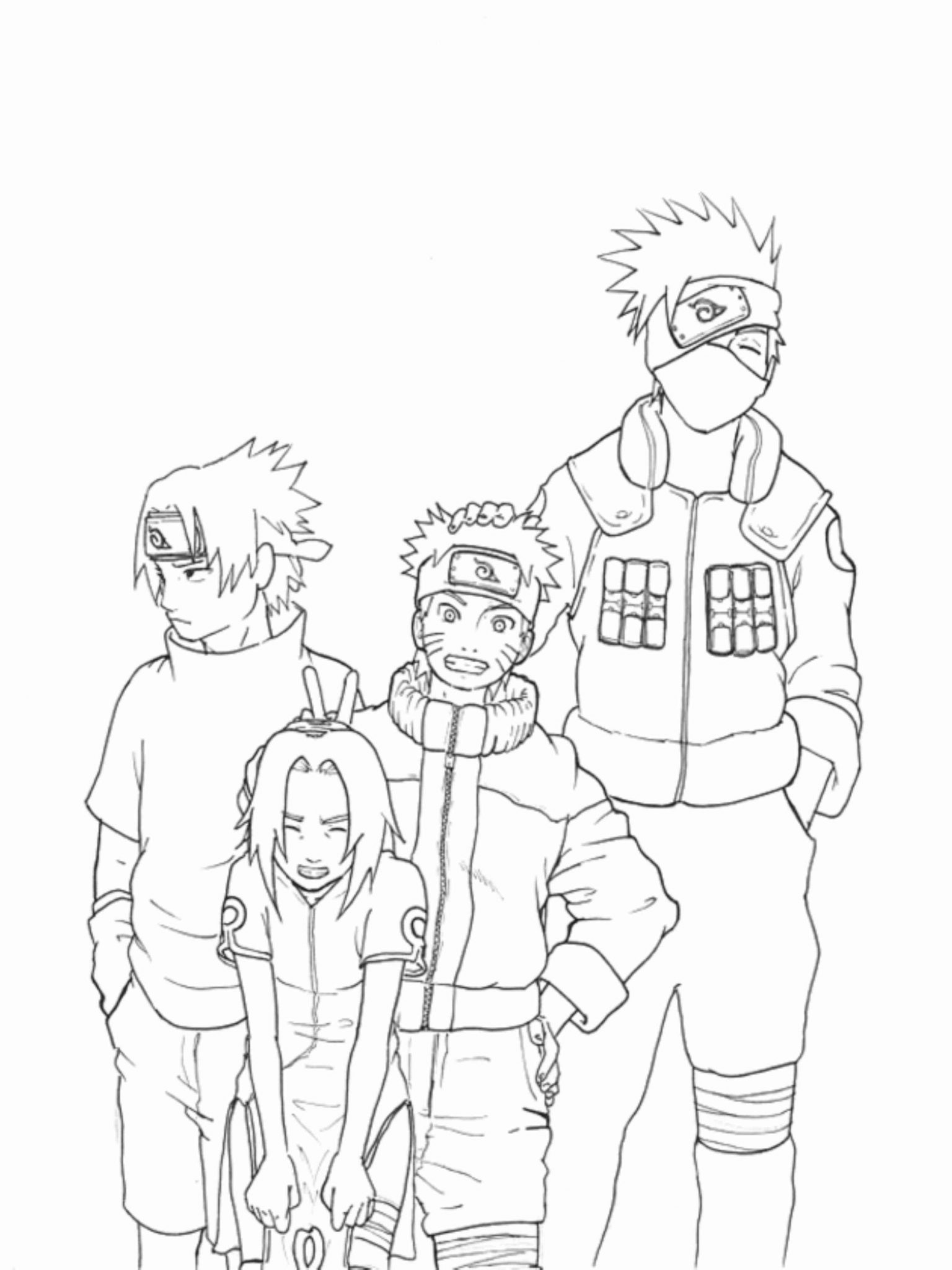 naruto coloring pages kakashi BestAppsForKidscom