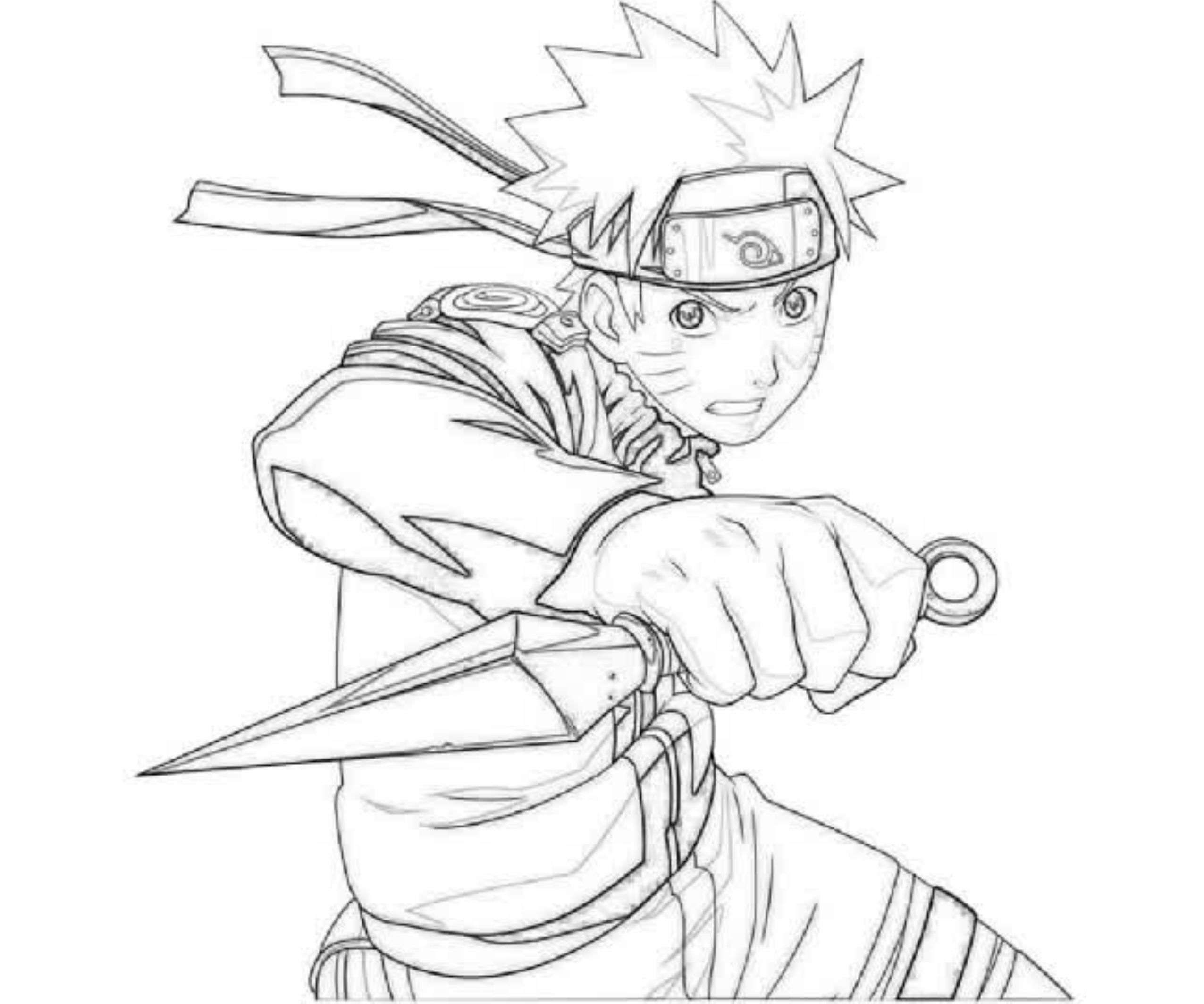 naruto print out coloring pages - photo#2