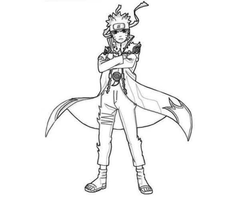 Free Printable Naruto Coloring Pages For Kids | 680x816