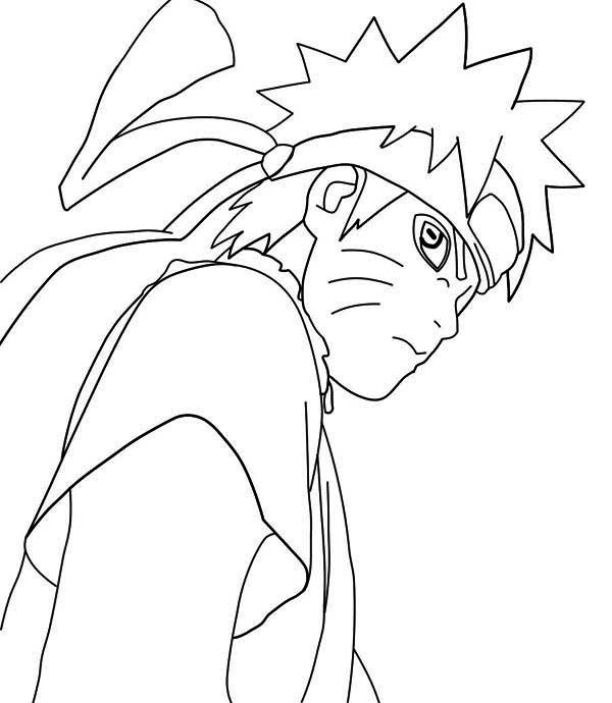 Naruto Sage Mode Coloring Pages