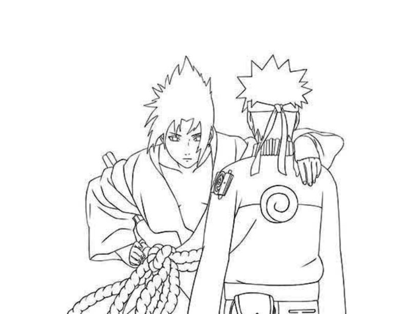 Naruto Vs Sasuke Coloring Pages Bestappsforkids Com