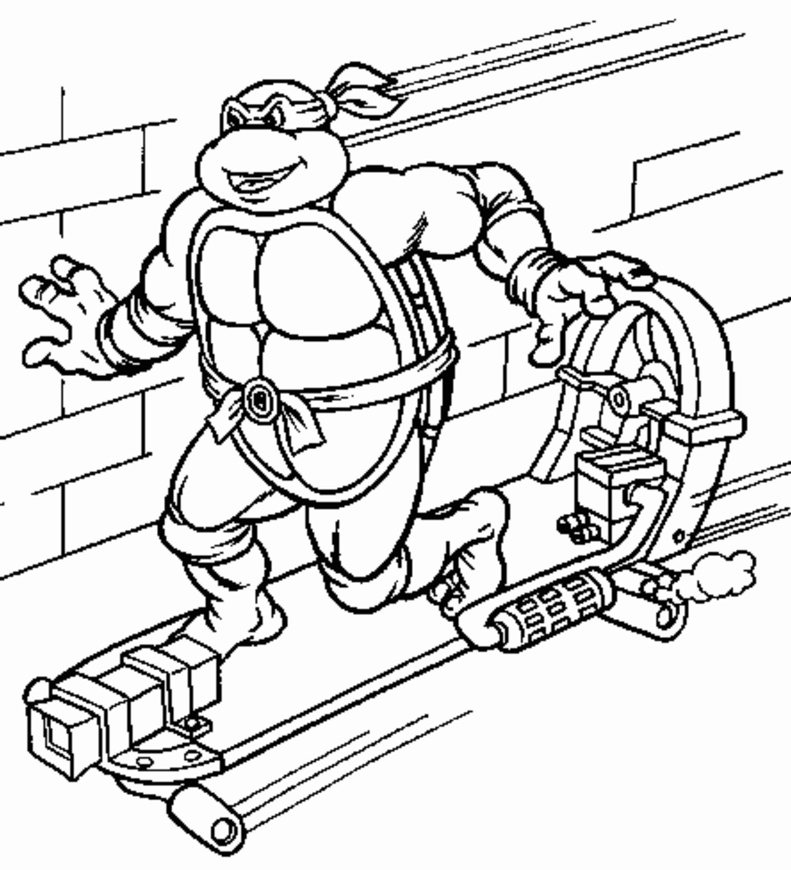 the ninja coloring pages