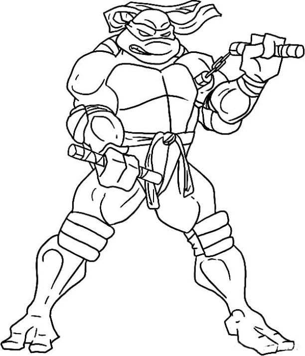Ninja Turtles Coloring Pages Michelangelo Hard Bestappsforkids Com