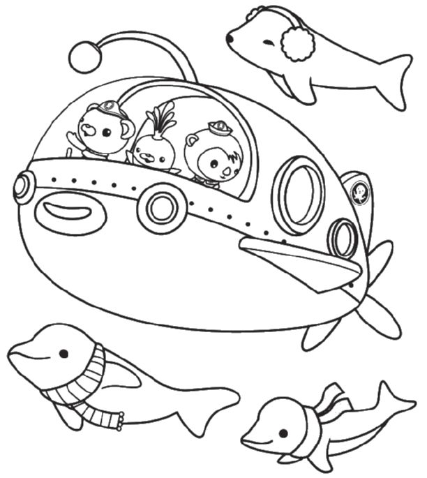 Print & Download - Octonauts Coloring Pages for Your Kid\'s Activity