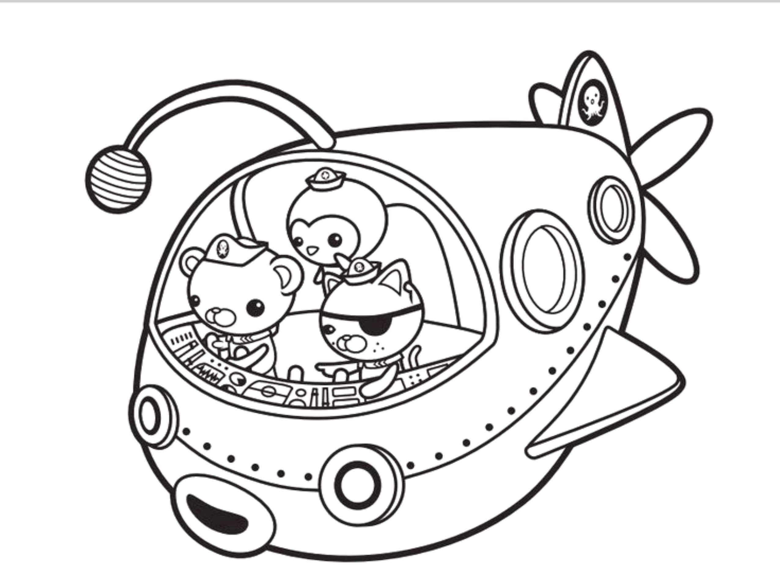 Print download octonauts coloring pages for your kid s for Octonauts color pages