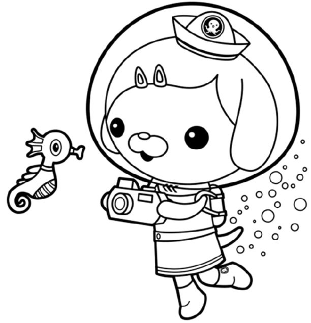 octonauts dashi dog online printable - Printable Octonauts Coloring Pages