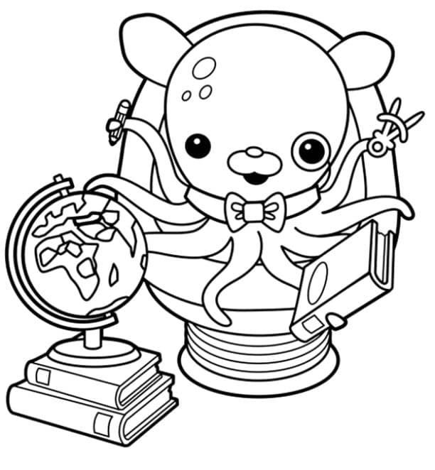 octonauts professor inkling coloring pages