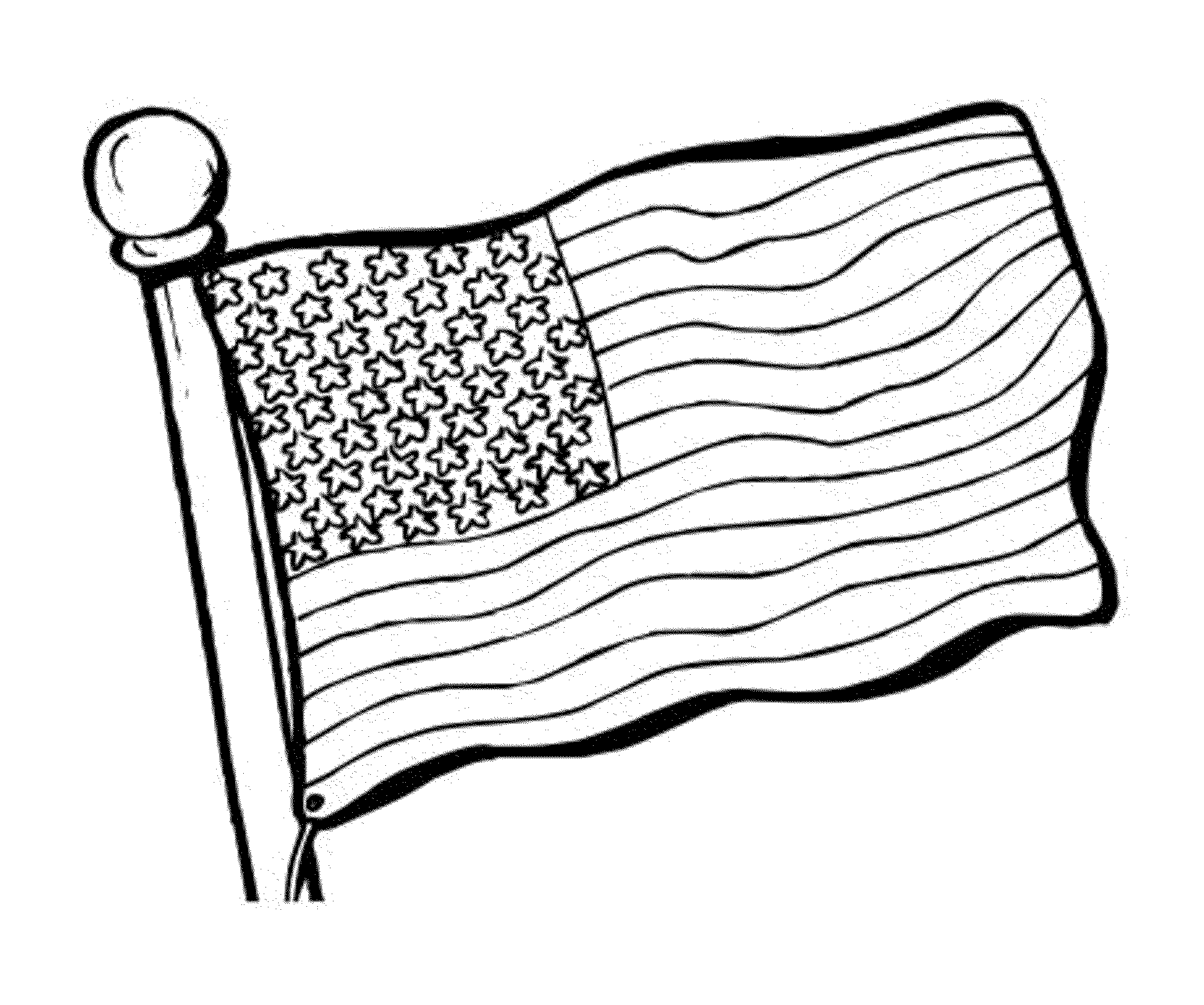American Flag Coloring Page for the Love of the Country