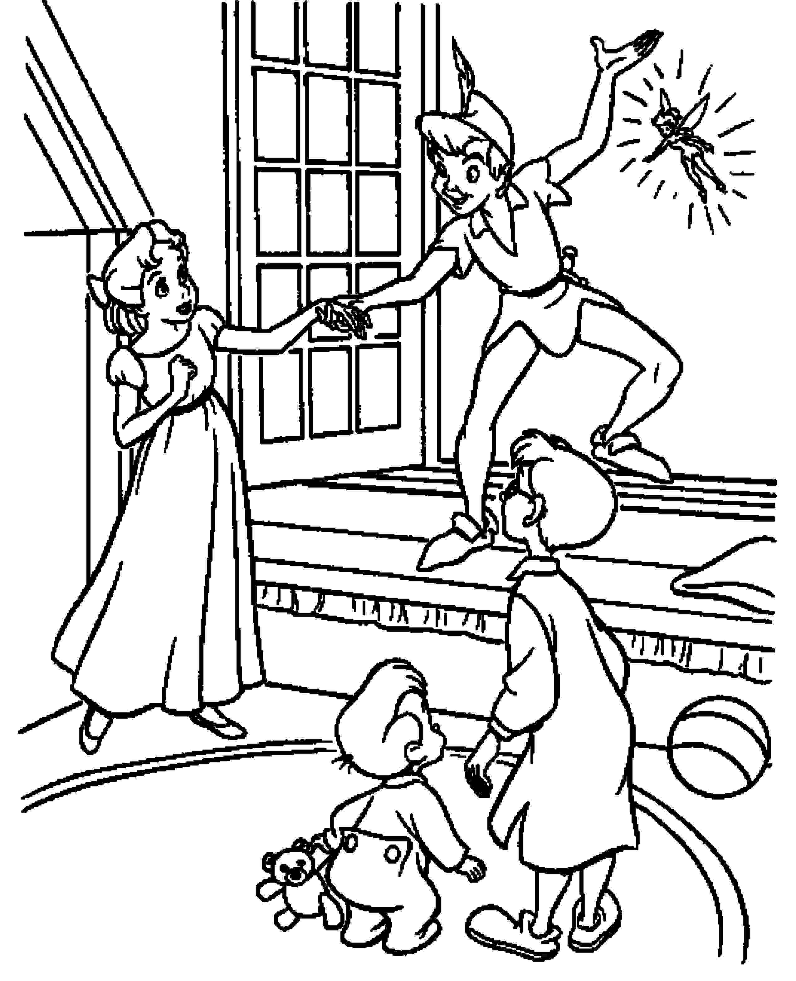 Print & Download - Fun Peter Pan Coloring Pages Downloaded for Free