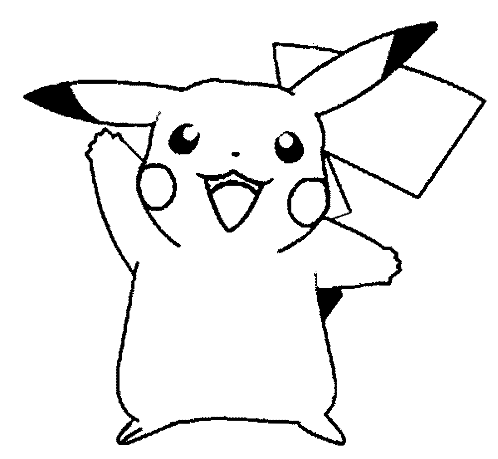 Coloring pages pokemon easy - Pokemon Pikachu Coloring Pages