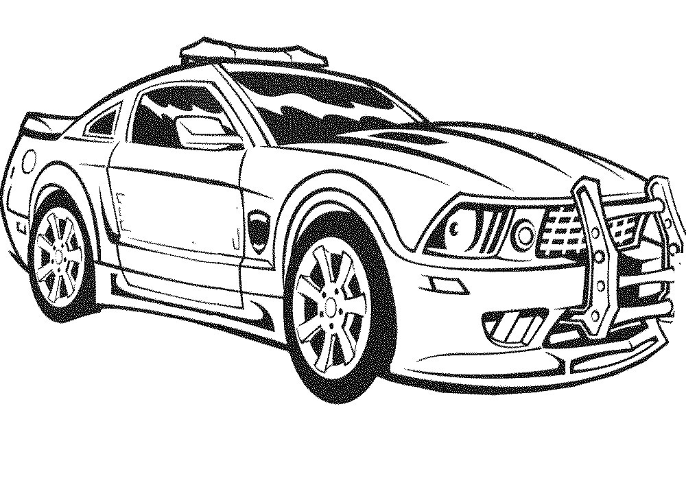 Free Coloring Pages Sports Cars. police car coloring pages cool Print  Download Kids Cars Coloring Pages