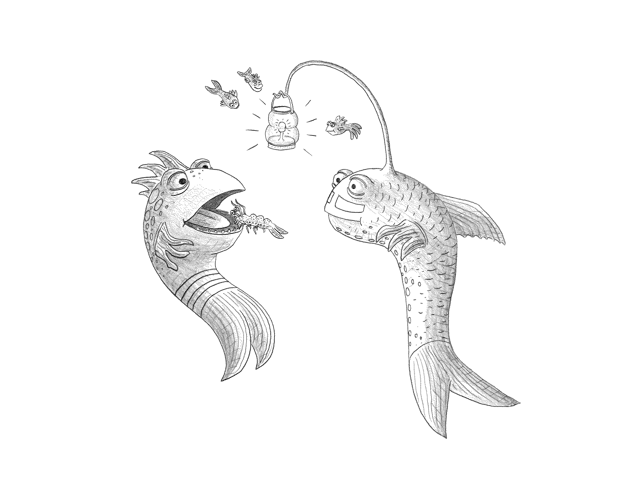 pout pout fish coloring page - pout pout fish coloring pages